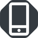 smartphone-wide up, wide, solid, octagon, iphone, phone, mobile, android, gsm, smartphone, cell, smartphone-wide free icon 128x128 128x128px