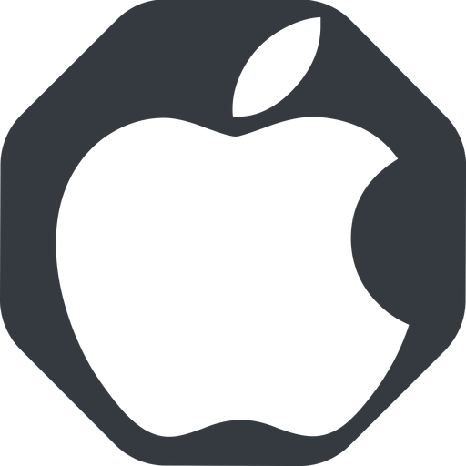 apple wide, solid, octagon, logo, brand, apple, macintosh, itunes, ipad, iphone, ipod free icon 512x512 512x512px