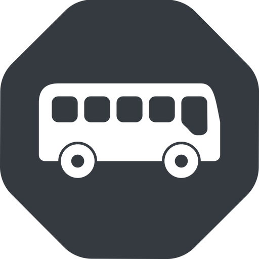 bus-side wide, solid, octagon, car, vehicle, transport, bus, side, bus-side free icon 512x512 512x512px