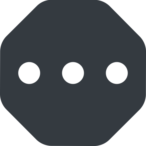 ellipsis up, wide, solid, octagon, ellipsis, three, dots, wider, menu, collapse, ... free icon 512x512 512x512px