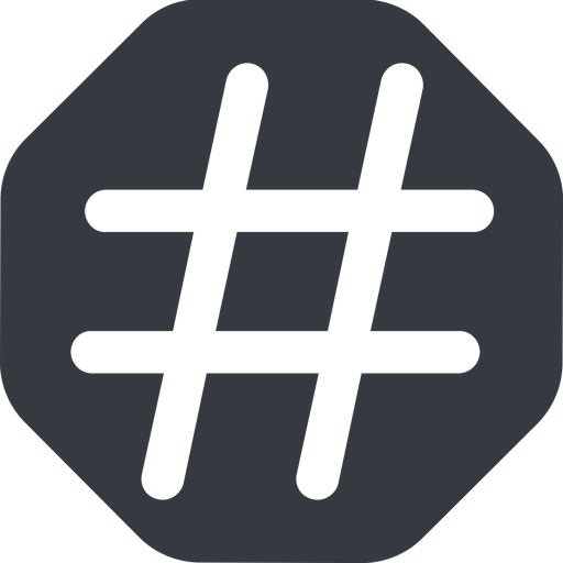 hashtag-wide wide, solid, octagon, social, hashtag, hashtag-wide free icon 512x512 512x512px