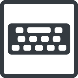 keyboard-solid line, down, normal, square, desktop, keyboard, keypad, typing, keyboard-solid free icon 256x256 256x256px