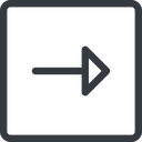 arrow line, right, normal, square, arrow free icon 128x128 128x128px