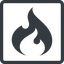 codeigniter line, normal, square, logo, brand, icon, horizontal, mirror, codeigniter, igniter, code, php, framework, flame, fire free icon 64x64 64x64px