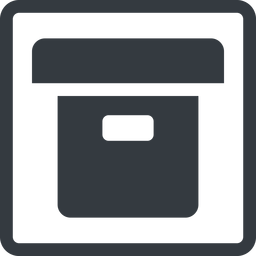 archive-solid line, square, archive, back-up, archive-solid free icon 256x256 256x256px