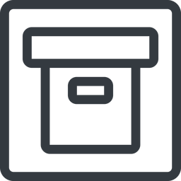 archive line, normal, square, archive, back-up free icon 256x256 256x256px