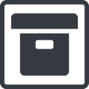 archive-solid line, square, archive, back-up, archive-solid free icon 128x128 128x128px