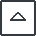 caret line, up, normal, square, arrow, direction, caret free icon 128x128 128x128px