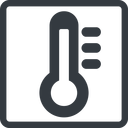 thermometer-high-solid line, normal, solid, square, temperature, thermometer, heat, high, hot, thermometer-high, thermometer-high-solid free icon 128x128 128x128px