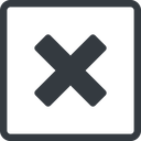 times-solid line, normal, square, times, cross, error, not, remove, no, delete, times-solid, danger, close, cancel, x free icon 128x128 128x128px
