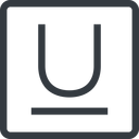 underline line, normal, square, text, type, editor, font, typography, font-style, underline, underlined free icon 128x128 128x128px
