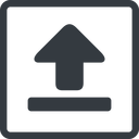 upload-solid line, normal, square, upload, uploaded, uploading, upload-solid free icon 128x128 128x128px
