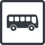 bus-side line, normal, wide, square, car, vehicle, transport, bus, side, bus-side free icon 64x64 64x64px