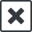 times-solid line, normal, square, times, cross, error, not, remove, no, delete, times-solid, danger, close, cancel, x free icon 64x64 64x64px