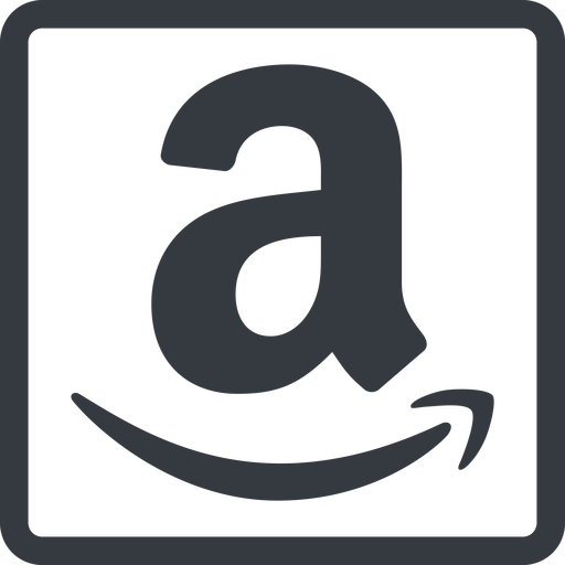 amazon line, normal, square, logo, brand, shop, buy, ecommerce, market, place, amazon free icon 512x512 512x512px