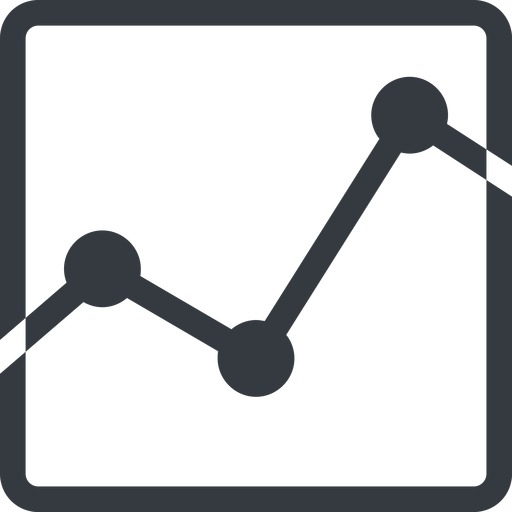 analytics line, up, normal, square, graph, analytics, chart free icon 512x512 512x512px