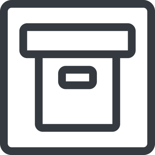 archive line, normal, square, archive, back-up free icon 512x512 512x512px