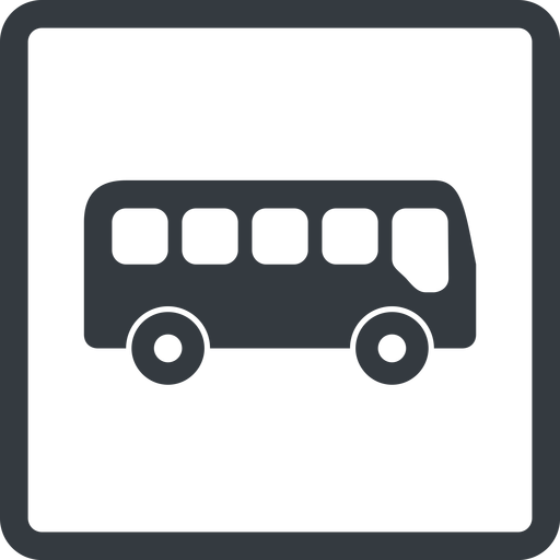 bus-side line, normal, wide, square, car, vehicle, transport, bus, side, bus-side free icon 512x512 512x512px