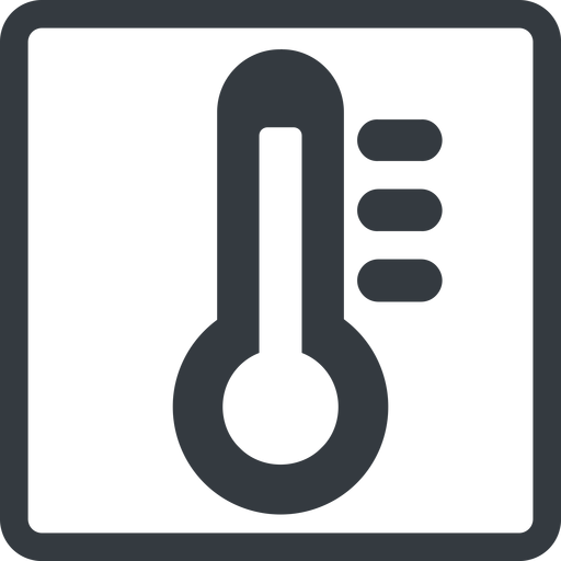 thermometer-high-solid line, normal, solid, square, temperature, thermometer, heat, high, hot, thermometer-high, thermometer-high-solid free icon 512x512 512x512px