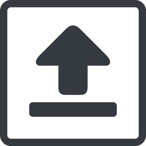 upload-solid line, normal, square, upload, uploaded, uploading, upload-solid free icon 512x512 512x512px