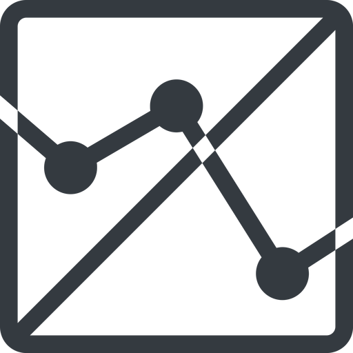 analytics line, down, normal, square, horizontal, mirror, graph, analytics, chart, prohibited free icon 512x512 512x512px