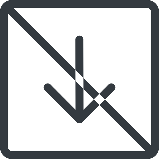 arrow-simple line, down, square, arrow, direction, prohibited, arrow-simple free icon 512x512 512x512px