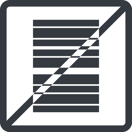 barcode line, left, normal, square, prohibited, barcode free icon 512x512 512x512px