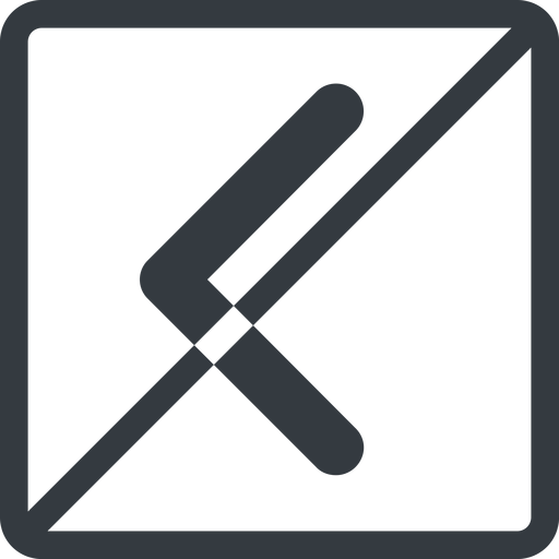 chevron-solid line, left, normal, square, arrow, direction, prohibited, chevron, chevron-solid free icon 512x512 512x512px