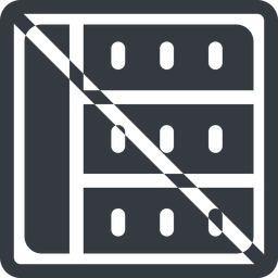 spreadsheet-solid line, right, normal, square, horizontal, mirror, prohibited, cell, table, data, grid, row, columns, spreadsheet, spreadsheet-solid free icon 256x256 256x256px