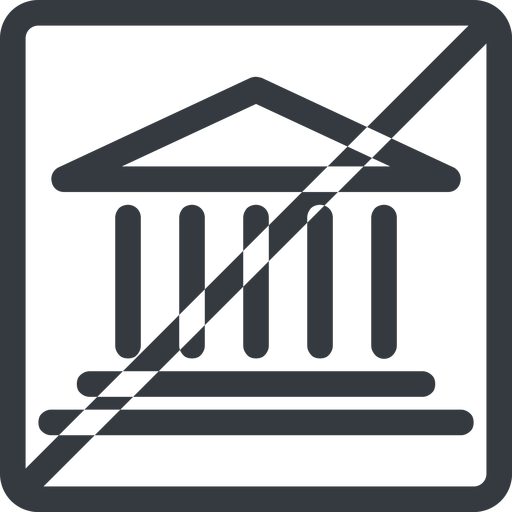 bank line, normal, square, horizontal, mirror, prohibited, law, bank, banking, university, investment, finance, court free icon 512x512 512x512px