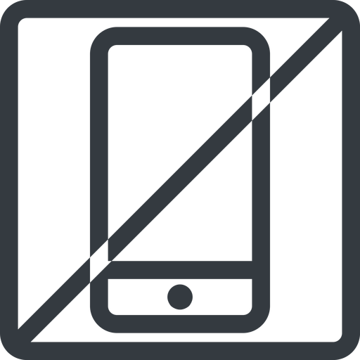 smartphone line, up, normal, square, horizontal, mirror, prohibited, iphone, phone, android, gsm, smartphone, cell free icon 512x512 512x512px