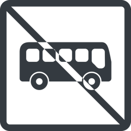 bus-side line, normal, wide, square, car, vehicle, transport, prohibited, bus, side, bus-side free icon 256x256 256x256px