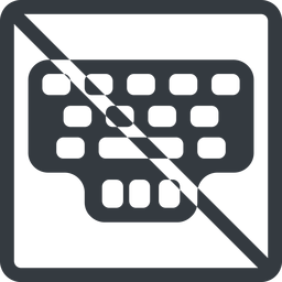 keyller line, normal, square, prohibited, game, keyboard, typing, training, train, type, keyller free icon 256x256 256x256px