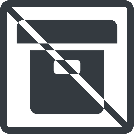 archive-solid line, normal, square, prohibited, archive, back-up, archive-solid free icon 512x512 512x512px