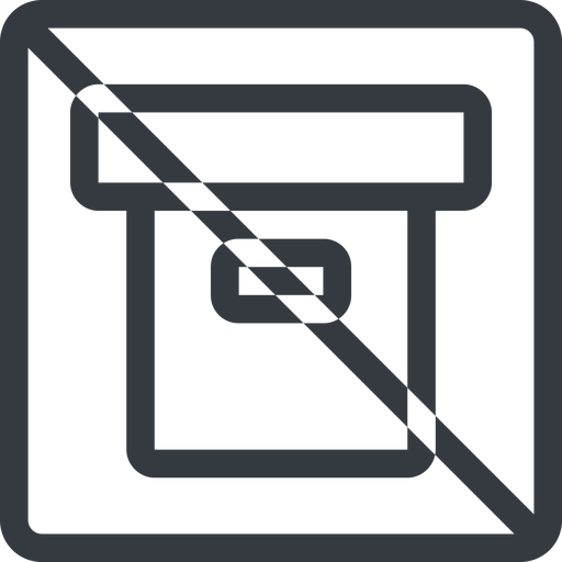 archive line, normal, square, prohibited, archive, back-up free icon 512x512 512x512px