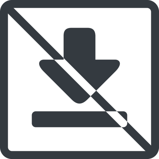 download-solid line, up, normal, square, download, downloaded, downloading, prohibited, download-solid free icon 512x512 512x512px