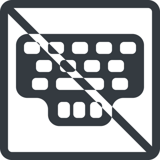 keyller line, normal, square, prohibited, game, keyboard, typing, training, train, type, keyller free icon 512x512 512x512px