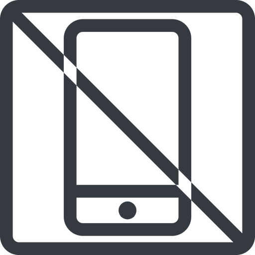 smartphone line, up, normal, square, prohibited, iphone, phone, android, gsm, smartphone, cell free icon 512x512 512x512px