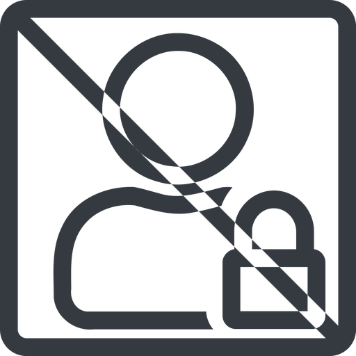 user-lock line, normal, square, user, man, woman, person, prohibited, secure, safe, padlock, locked, lock, user-lock free icon 512x512 512x512px