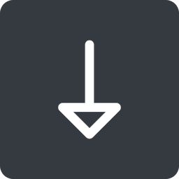 arrow down, normal, solid, square, arrow free icon 256x256 256x256px