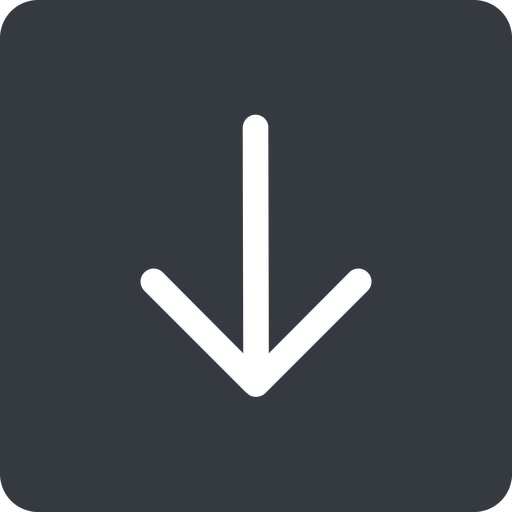 arrow-simple down, solid, square, arrow, direction, arrow-simple free icon 512x512 512x512px