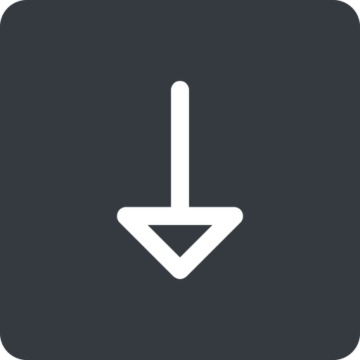 arrow down, normal, solid, square, arrow free icon 512x512 512x512px