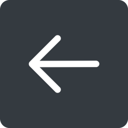 arrow-simple left, solid, square, arrow, direction, arrow-simple free icon 256x256 256x256px