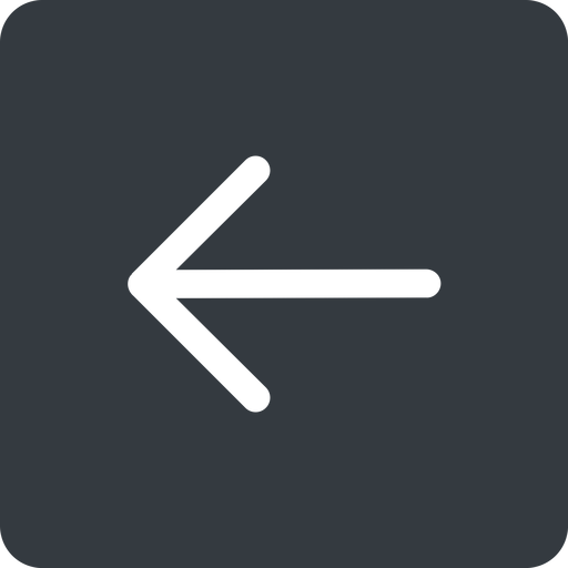 arrow-simple left, solid, square, arrow, direction, arrow-simple free icon 512x512 512x512px