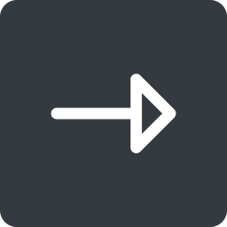 arrow right, normal, solid, square, arrow free icon 256x256 256x256px
