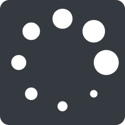 loading right, normal, solid, square, spinner, spin, wait, load, loading, waiting, galaxy, space, stars, loader free icon 256x256 256x256px