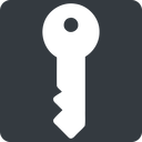 key-solid right, normal, solid, square, unlocked, unlock, locked, lock, key, access, security, key-solid free icon 128x128 128x128px