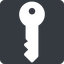 key-solid right, normal, solid, square, unlocked, unlock, locked, lock, key, access, security, key-solid free icon 64x64 64x64px