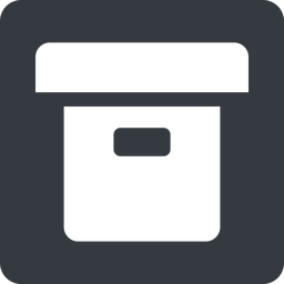 archive-solid normal, solid, square, archive, back-up, archive-solid free icon 256x256 256x256px