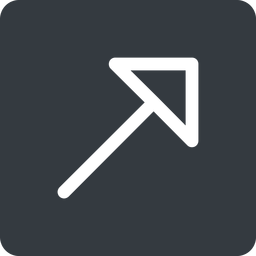arrow-corner up, solid, square, arrow, link, url, href, corner, arrow-corner free icon 256x256 256x256px